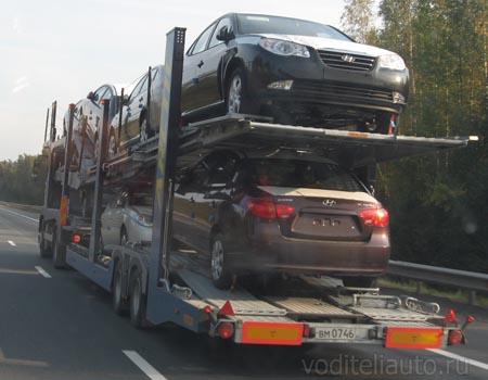 доставка автомобилей в автосалон