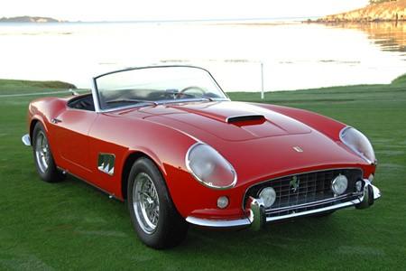 Ferrari модель 250 GT California, выпущенная в 1961г