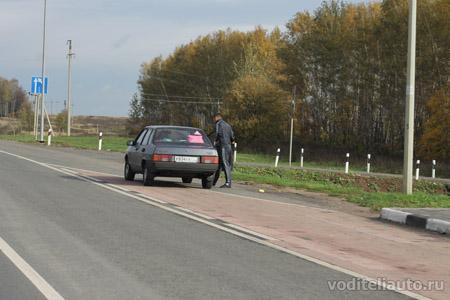 на автомобиле в Латвию