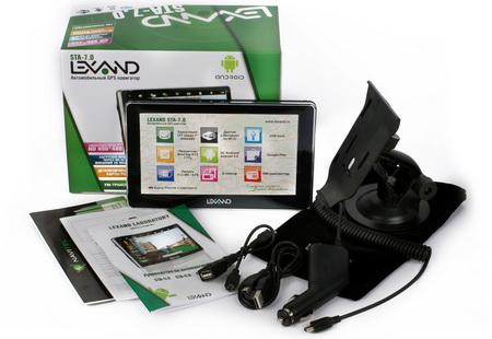 Комплект поставки навигатора Lexand STA-7.0