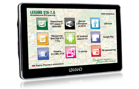 Android-навигатор Lexand STA-7.0