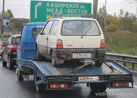 Эвакуируемые автомобили будут страховаться