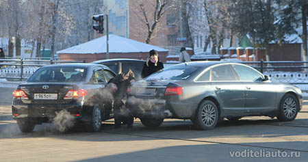 действия водителей при ДТП