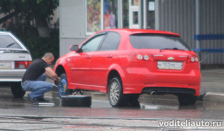 Как правильно поменять колесо на автомобиле