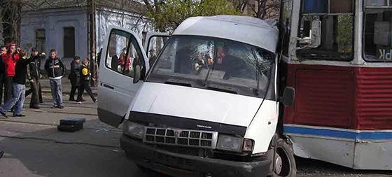 ДТП с участием Газели и трамвая