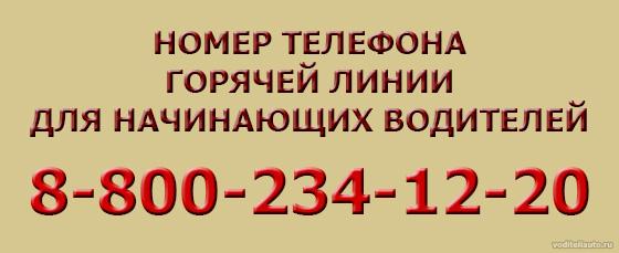 номер телефона горячей линии для водителей