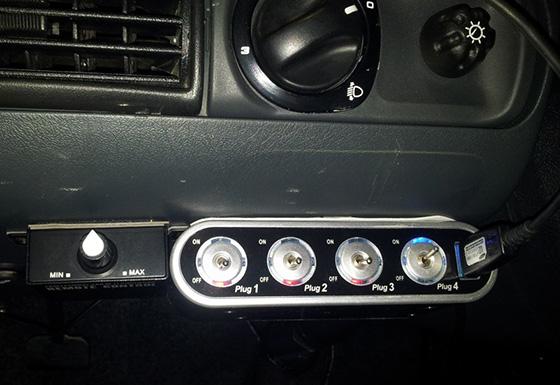 разветвитель прикуривателя с выключателем и USB