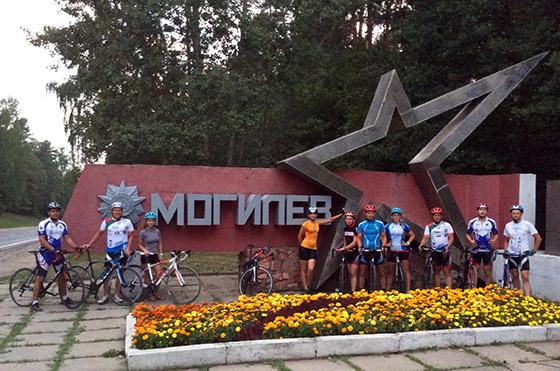 Участники велопробега «Брестский проект 2015» в Могилеве