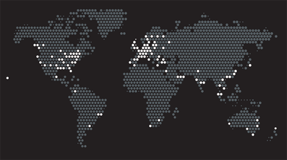 Карта присутствия компании Блэклайн