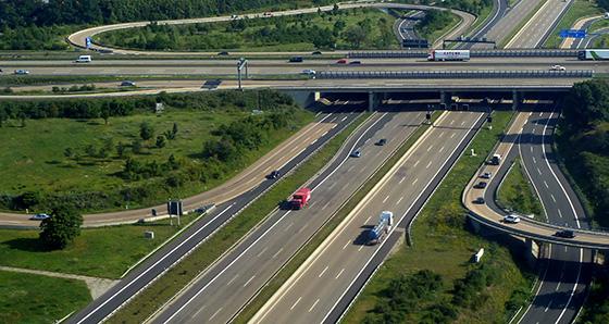 автомагистраль с высоты