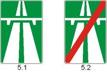знак Автомагистраль 5.1