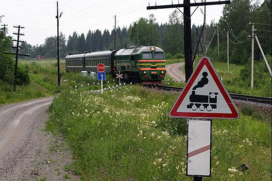 дорожные знаки перед ж/д переездом