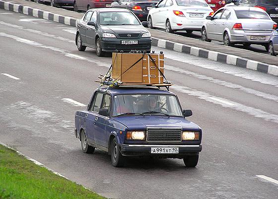 перевозка груза на багажнике