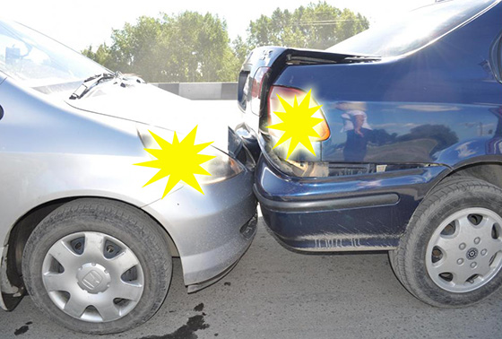 Включение аварийной сигнализации при ДТП
