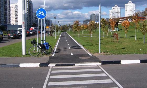 Полоса для движения велосипедов