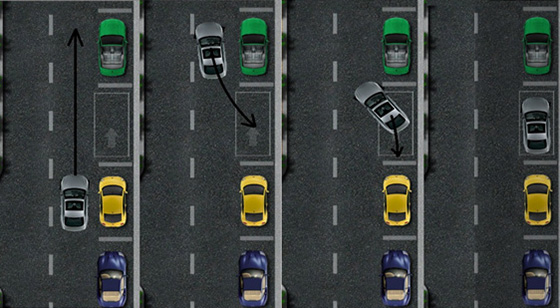 как правильно выполнять параллельную парковку задним ходом - схема