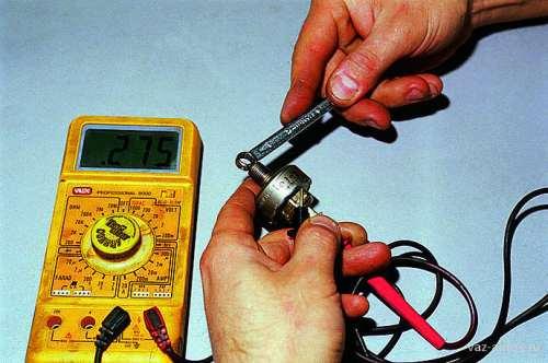 Проверка датчика детонации мультиметром
