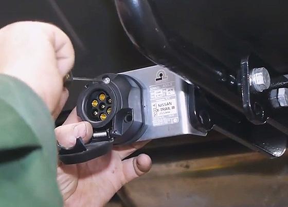 подключение розетки фаркопа
