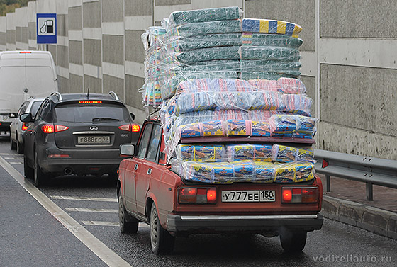 ПДД перевозка негабаритного груза