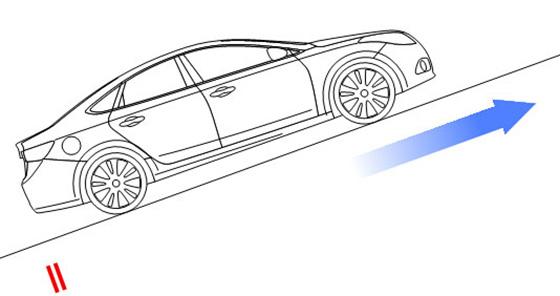 старт движения автомобиля на подъеме