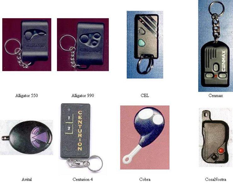 внешний вид брелков от сигнализаций разных марок