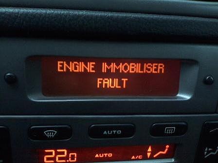 горит иммобилайзер и машина не заводится