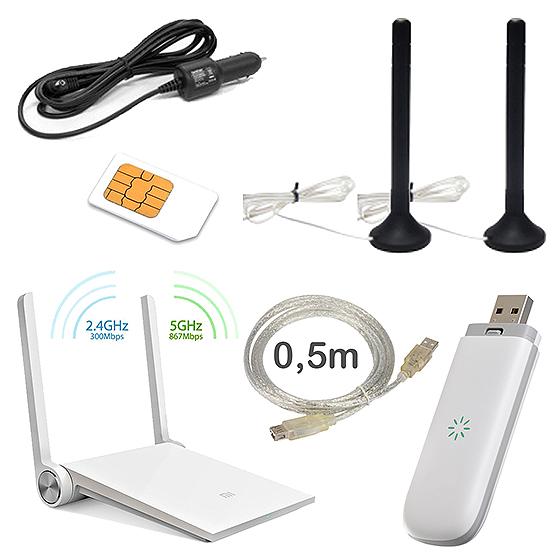 подключаем интернет в автомобиль: комплект оборудования «Интернет в авто 2x4dB»