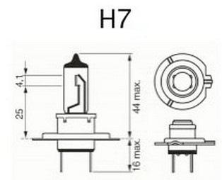 цоколевка и размеры H7