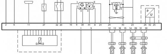 подключение датчиков колес системы АБС