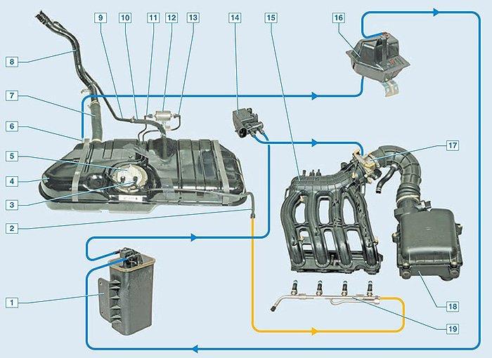устройство и принцип работы адсорбера в машине