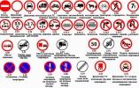 Запрещающие знаки с комментариями