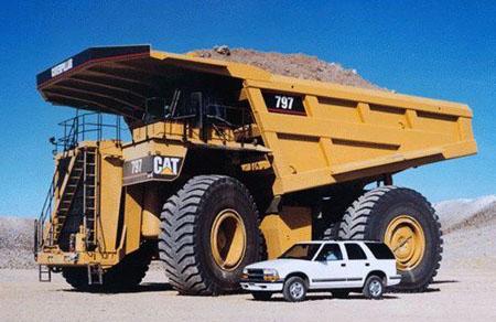 Большой автомобиль Caterpillar 797