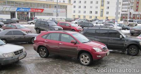 Датчики парковки автомобиля