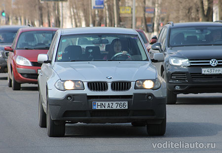 эксплуатация автомобиля с иностранными регистрационными номерами