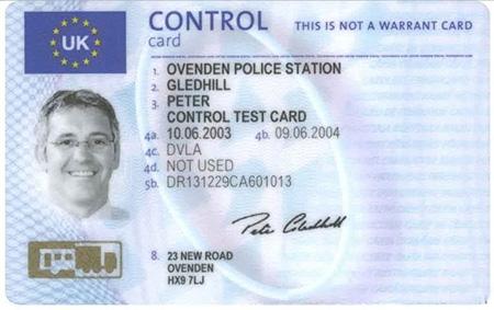 Карточка водителя для тахографа  европейского образца