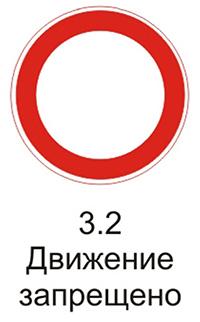 """Дорожный знак 3.2 """"Движение запрещено"""" комментарии и разъяснения"""