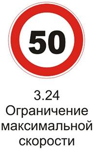 Дорожный знак 3.24 «Ограничение максимальной скорости» комментарии