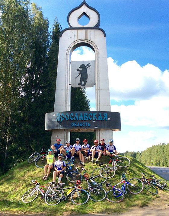 Участники велопробега «Брестский проект 2015» в Ярославле