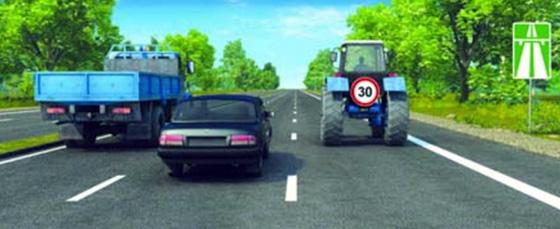 движение по автомагистрали грузовых автомобилей