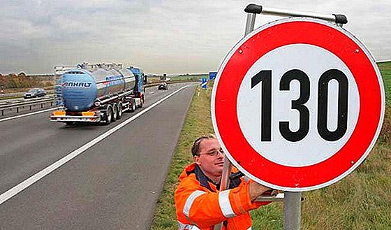 ограничение скорости на автомагистралях