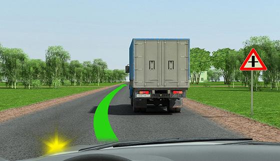 Обгон на нерегулируемом перекрестке по главной дороге
