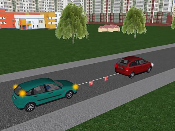 Аварийная сигнализация на буксируемом автомобиле