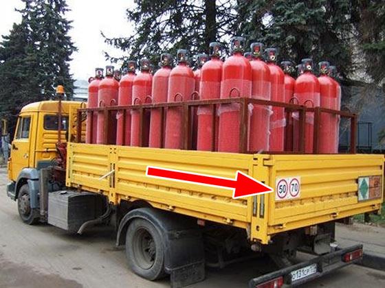 Скорость при перевозке опасных и крупногабаритных грузов
