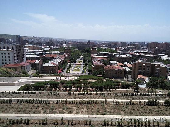 Фото: вид на Ереван с Каскада