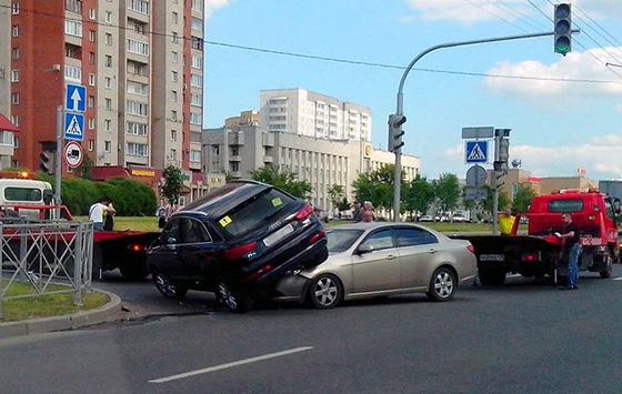 ДТП с участием неопытного водителя