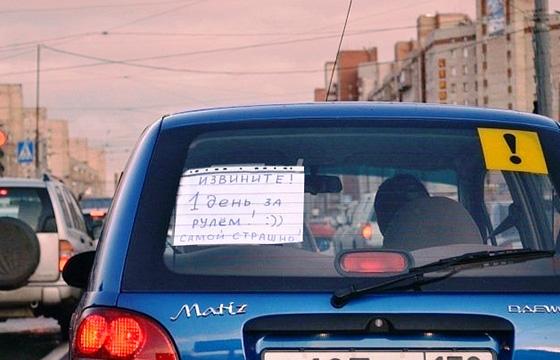знак неопытный водитель