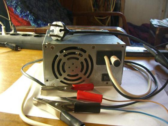 Простое зарядное устройство для АКБ из блока питания компьютера