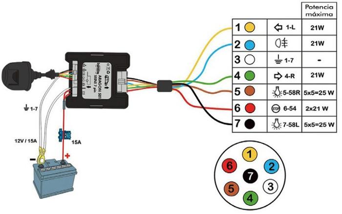 Схема подключения блока согласования для фаркопа