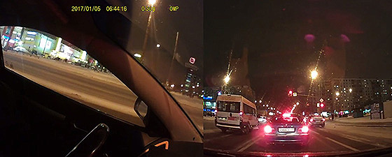 автомобильный видеорегистратор с двумя камерами и датчиком движения