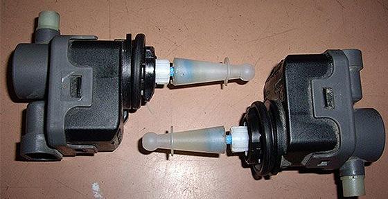 мотор- редуктор электромеханического корректора фар